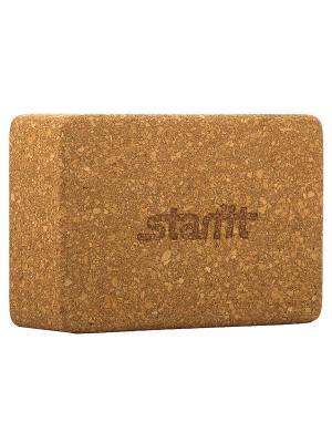 Блок для йоги STARFIT FA-102, пробка. Цвет: светло-коричневый