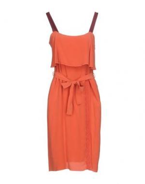 Платье до колена ...À_LA_FOIS.... Цвет: коралловый