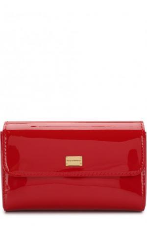 Лаковая сумка Dolce & Gabbana. Цвет: красный