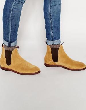 Hudson London Замшевые ботинки челси Tamper. Цвет: бежевый