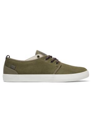 Кеды DC Shoes. Цвет: оливковый, темно-бежевый, хаки