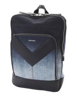 Рюкзаки и сумки на пояс DIESEL. Цвет: синий