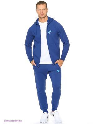 Брюки M NSW JOGGER FLC AIR HRTG Nike. Цвет: темно-синий, голубой