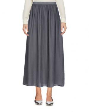 Длинная юбка ROSSOPURO. Цвет: серый