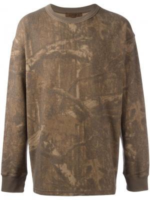 Термо-кофта с длинными рукавами Season 3 Yeezy. Цвет: коричневый