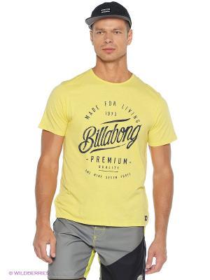 Футболка RANSOM SS BILLABONG. Цвет: желтый