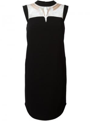 Платье с кружевной вставкой Mame. Цвет: чёрный