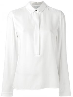 Блузка со складками Akris Punto. Цвет: белый
