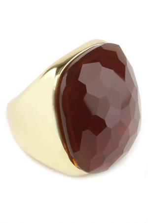 Кольцо Donna Lorena. Цвет: коричневый, золото