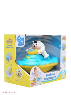 Медвежонок на катере пускает мыльные пузыри Hap-P-Kid. Цвет: голубой, желтый, белый