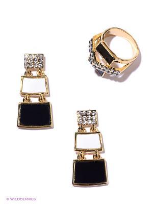 Комплект Bijoux Land. Цвет: золотистый, черный, серебристый