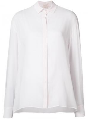 Полупрозрачная рубашка Giambattista Valli. Цвет: розовый и фиолетовый