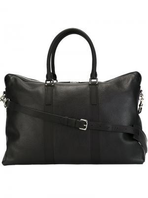Фактурная дорожная сумка Mismo. Цвет: чёрный