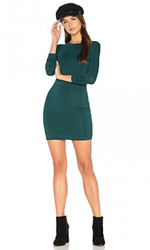 Мини платье с длинными рукавами BLQ BASIQ. Цвет: зеленый