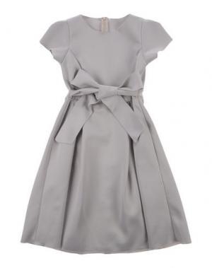Платье CAF. Цвет: светло-серый