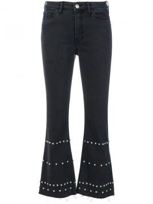 Расклешенные джинсы с заклепками Mih Jeans. Цвет: чёрный