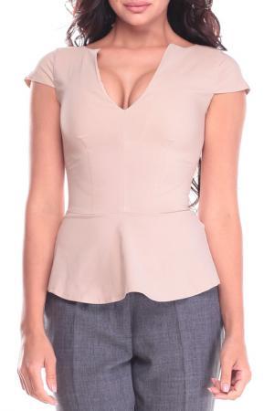 Блуза Dioni. Цвет: бежевый