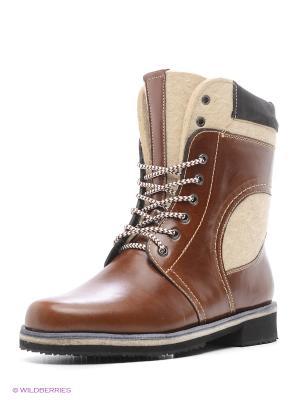 Ботинки Унисекс ZimoV. Цвет: рыжий
