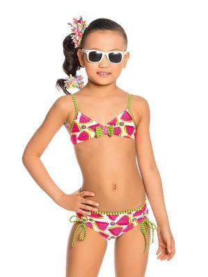 Купальник для девочек Arina. Цвет: розовый, белый