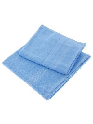 Махровое полотенце Aisha. Цвет: голубой