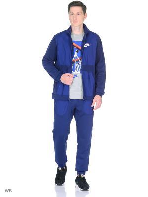 Костюм M NSW TRK SUIT WINTER Nike. Цвет: синий, белый