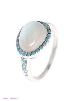 Кольцо BALEX. Цвет: бирюзовый, голубой, серебристый