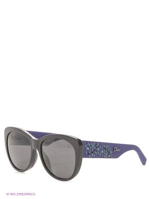 Солнцезащитные очки CHRISTIAN DIOR. Цвет: черный, темно-фиолетовый