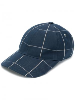 Checked cap A.P.C.. Цвет: синий