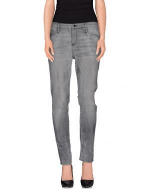 Джинсовые брюки-капри BLACK ORCHID. Цвет: серый
