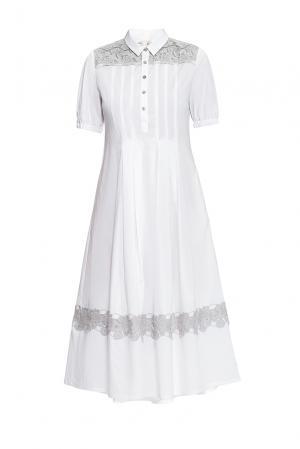 Платье из хлопка 163217 Anna Verdi. Цвет: белый