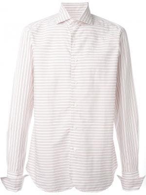 Рубашка в полоску Al Duca D'Aosta 1902. Цвет: белый