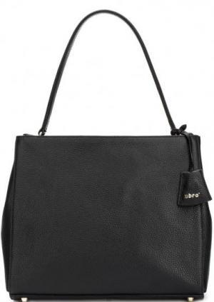 Вместительная сумка со стационарной ручкой и съемным плечевым ремнем Abro. Цвет: черный