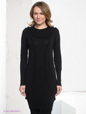 Платье-туника OBJECT. Цвет: черный