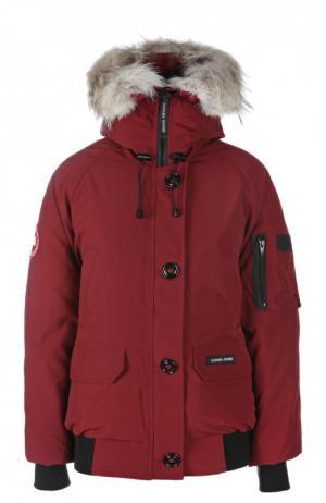 Куртка Canada Goose. Цвет: темно-бордовый