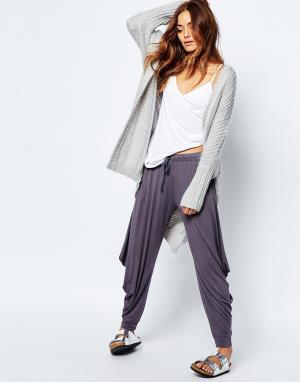 Stitch & Pieces Свободные штаны для дома. Цвет: серый