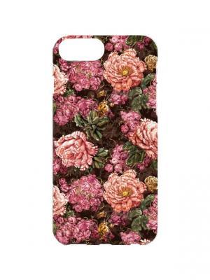 Чехол для iPhone 7Plus Кружевные пионы Арт. 7Plus-253 Chocopony. Цвет: розовый, зеленый