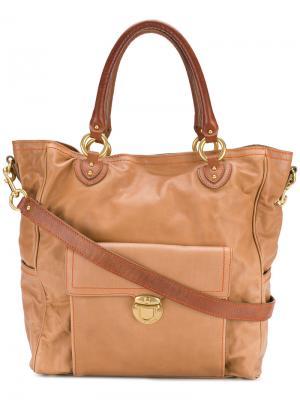 Дорожная сумка с портфельной застежкой Marc Jacobs. Цвет: телесный