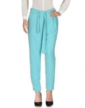 Повседневные брюки HOTEL PARTICULIER. Цвет: небесно-голубой