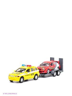Набор Эвакуатор с машиной Технопарк. Цвет: красный, желтый