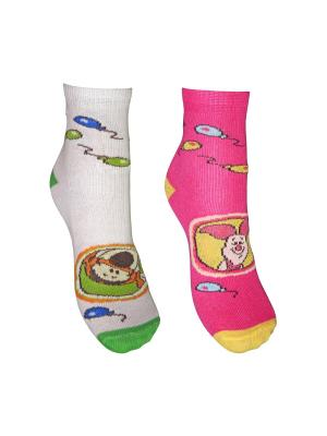 Носки 2 пары Master Socks. Цвет: белый, розовый
