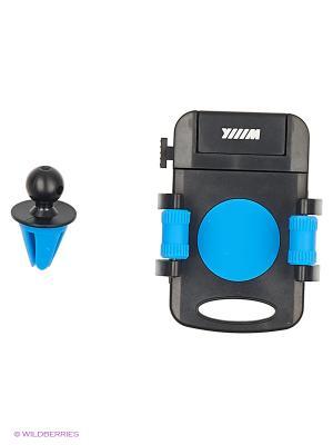 Держатель телефона/смартфона с кнопкой фиксации зажима HT-WIIIX-01Vbu на вентиляцию WIIIX. Цвет: черный