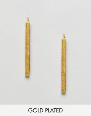 Ottoman Hands Серьги-протяжки. Цвет: золотой