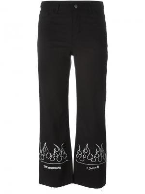 Укороченные брюки с принтом Nafsika Skourti. Цвет: чёрный