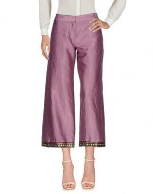Повседневные брюки DANIELA PANCHERI. Цвет: розовато-лиловый