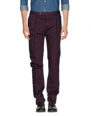 Повседневные брюки ROTASPORT. Цвет: баклажанный