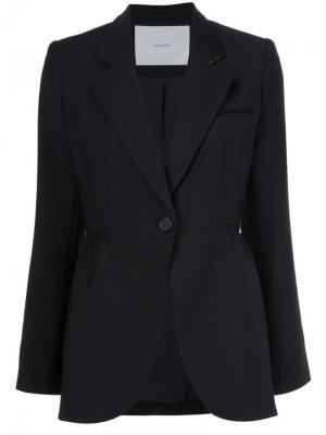 Пиджак с застежкой на пуговицу Adam Lippes. Цвет: чёрный
