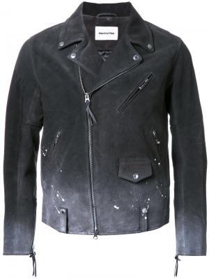 Куртка с эффектом деграде и пятнами краски monkey time. Цвет: чёрный