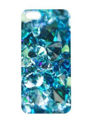 Чехол для iPhone 5/5s Топазы Арт. IP5-027 Chocopony. Цвет: темно-синий, голубой, темно-зеленый