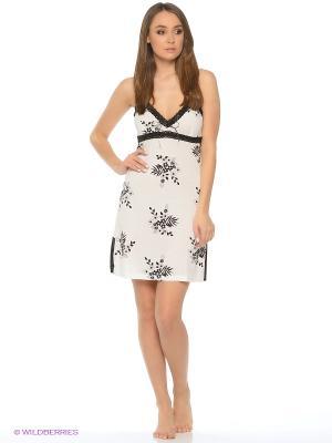 Сорочка Del Fiore. Цвет: белый, черный