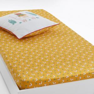Натяжная простыня с рисунком, LAMA La Redoute Interieurs. Цвет: рисунок/желтый